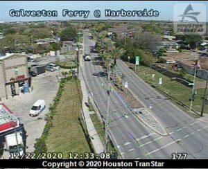 Galveston Ferry Webcam at Harborside