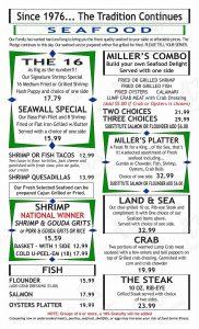 Miller's Seawall Grill Menu